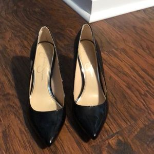 Patent leather pumps. Worn once